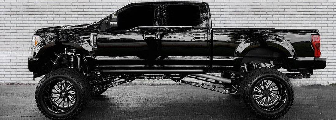 "F250 F350 10"" 4-Link Lift Kit with Traction Bar"