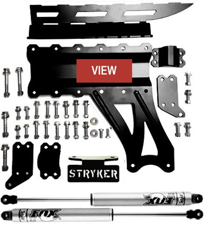 Stryker Level 4 F250 F350 6 inch Lift Kit V2 Dual Steering Stabilizer with Fox 2.0 Shocks