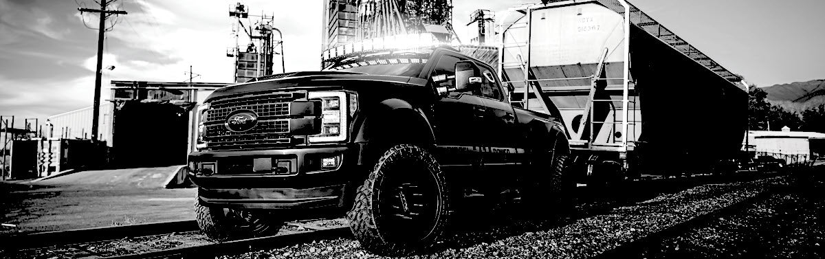 Diesel Brothers Night Train Build F450 RAD Series Radius Arm 4.5 inch Lift Pulling a Train