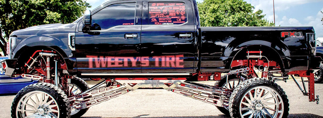 Tweety's Tire 2018 F250 Super Duty with Stryker 18 to 24 Adjustable Lift