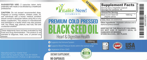 Pure Black Seed Oil
