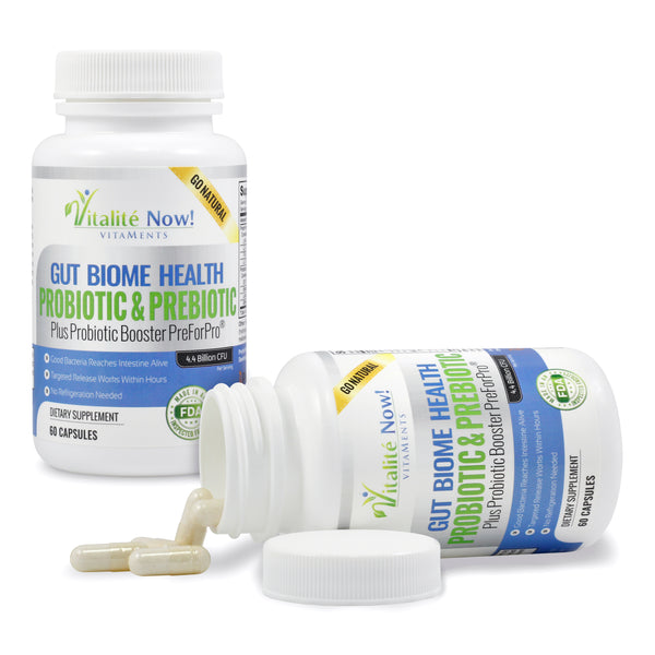 Premium Probiotic Plus Ultimate Prebiotic - Gut Biome Builder & Restoration