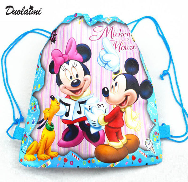 1 Pic children schoolbags Princess Drawstring Bags Cartoon For Girls & Boys multipurpose school backpack Christmas gifts 1K - xfunshopping