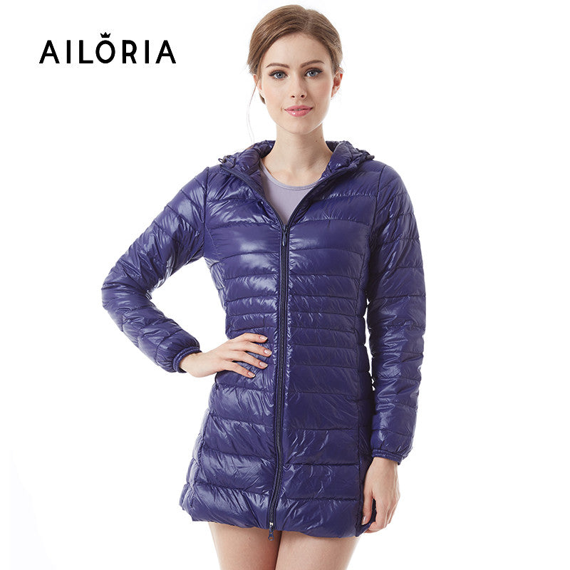 AILORIA 2017 Winter Long Spring Autumn Overcoat Women Ultra Light 90% White Duck Down Coat Jackets Duck Down Jacket For Women - xfunshopping