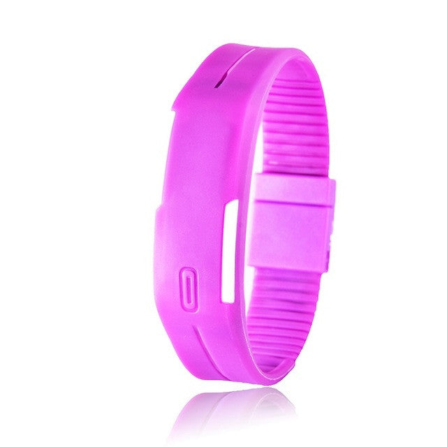 2016 Candy Color Men's Women's Watch Rubber LED kids Watches Date Bracelet Digital Sports Wristwatch for student - xfunshopping