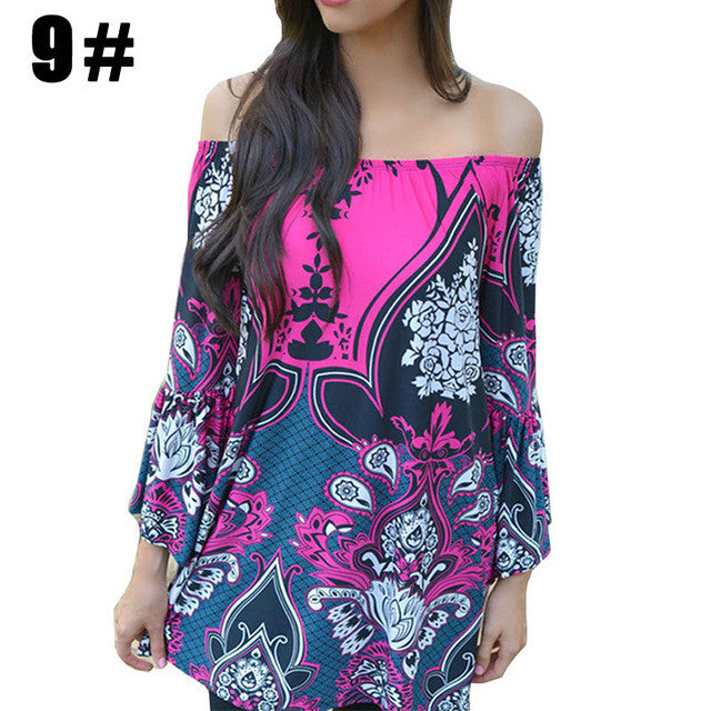 Aproms Bohemian Elegant Women Summer Dress Off Shoulder Beach Tunic Dresses Sundress European Style Sexy Vestidos De Ropa Mujer - xfunshopping