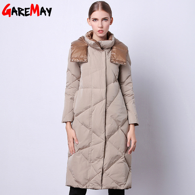 Women's Winter Jacket 2016 Fashionable Clothing Sale Long Quilted Parka Duck Down Feathers Korean Style Warm For Ladies - xfunshopping