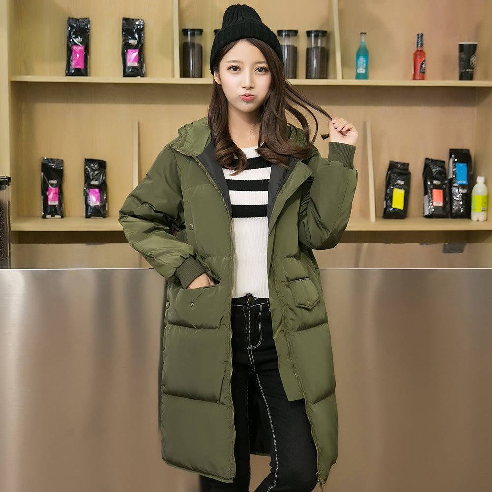 New Arrival Women Long Down Coat Hooded Winter Coat Women Warm Plus Size Duck Down Jacket Lovers Clothes His-And-Her Coat S-3XL - xfunshopping