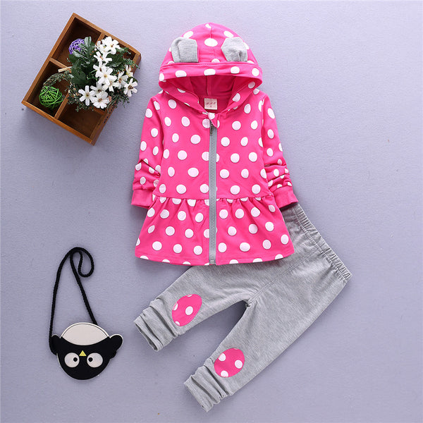 1-4T  fashion girls clothing set mother & kids children clothes suit for girl spring autumn child costume toddler baby sets TZ-9 - xfunshopping