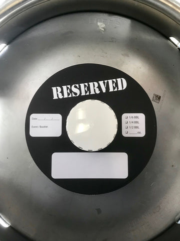 Keg Tag Collar 7 inch RESERVED