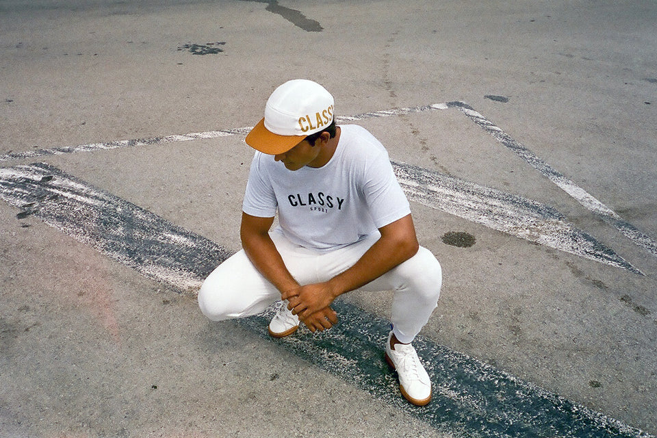 1312 Classy 5 panel - white - A.C.A.B.store
