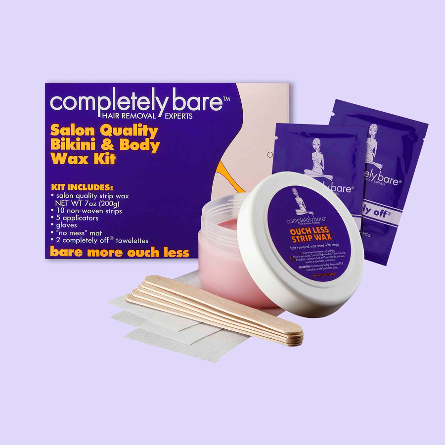 bare more ouch LESS <br>Bikini & Body Wax Kit