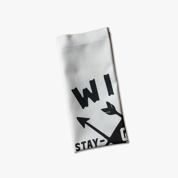"""ARROWS"" - POCKET FLAG / WHITE"
