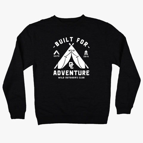 """ADVENTURE"" CREW NECK - SWEATSHIRT / BLACK"