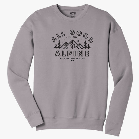 """ALL GOOD"" CREW NECK SWEATSHIRT"