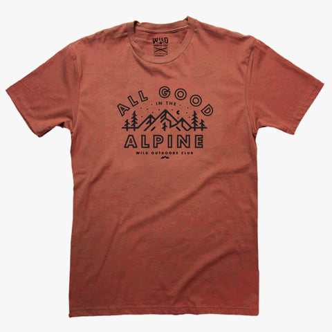 """ALL GOOD IN THE ALPINE"" - MENS TEES"