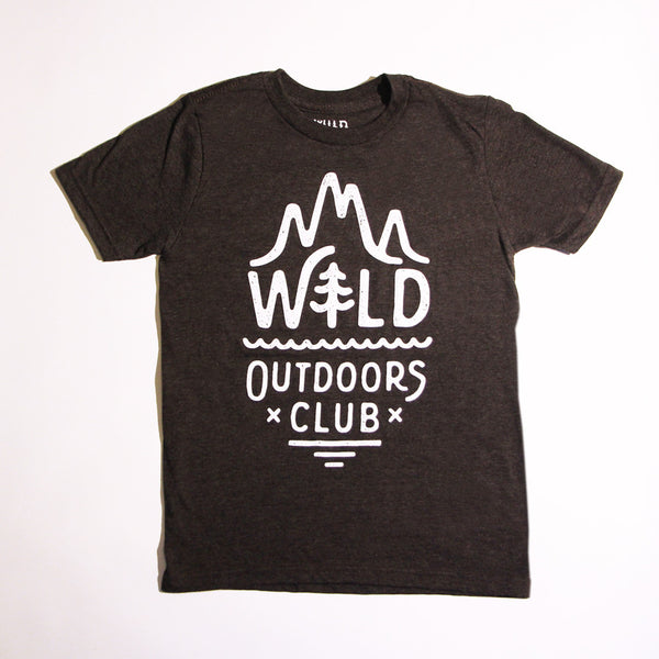 """ALPINE"" KIDS TEE - CHARCOAL HEATHER"