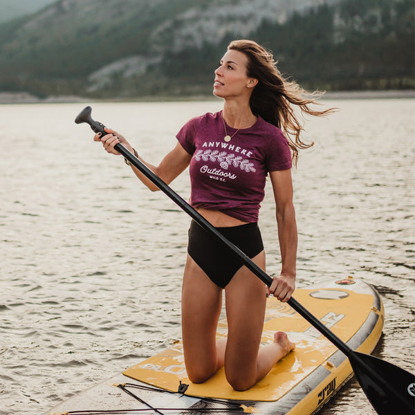 """ANYWHERE OUTDOORS"" Women's Tees"
