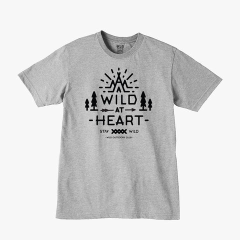"""WILD AT HEART"" - WOMEN'S TRI-BLEND TEE - ATHLETIC HEATHER"
