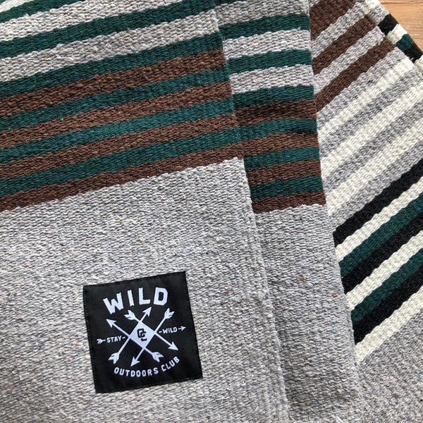 "WILD ""QUARRY"" HEAVYWEIGHT CAMP BLANKET"