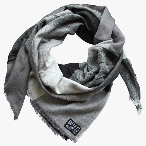 "Wild ""Chambray"" - Plaid Blanket Scarf"