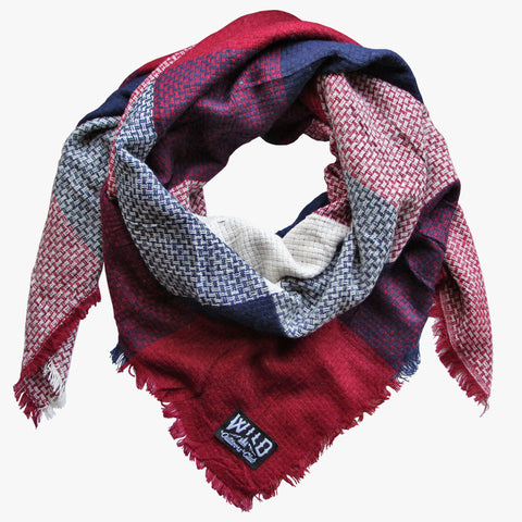 "Wild ""Cranberry"" - Plaid Blanket Scarf"
