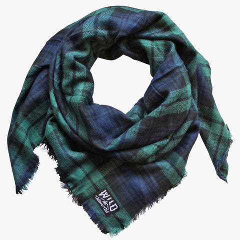 "Wild ""Evergreen"" - Plaid Blanket Scarf"