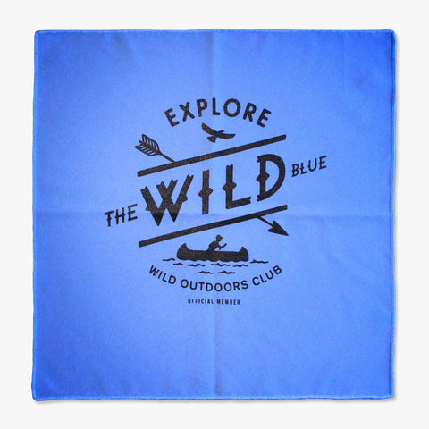 """WILD BLUE"" - POCKET FLAG / BLUE"