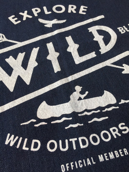 """WILD BLUE"" - POCKET FLAG / NAVY"