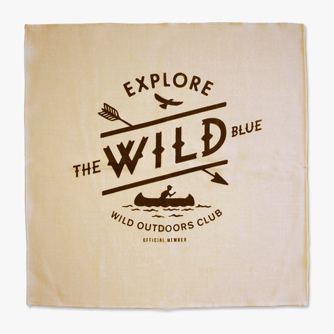 """WILD BLUE"" - POCKET FLAG / TAN"