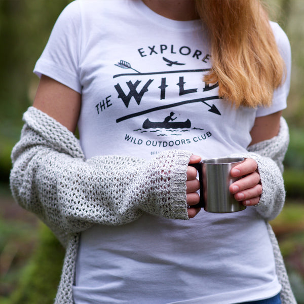 """WILD BLUE"" - WOMEN'S PERFECT TEE - WHITE"