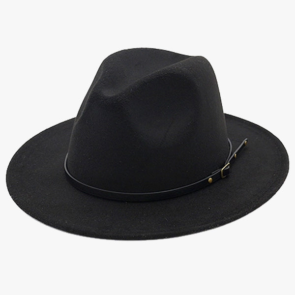 """EXPEDITION"" - FELTED WIDE BRIM FEDORA - BLACK"