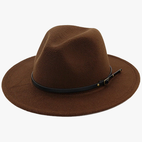"""EXPEDITION"" - FELTED WIDE BRIM FEDORA - COFFEE"