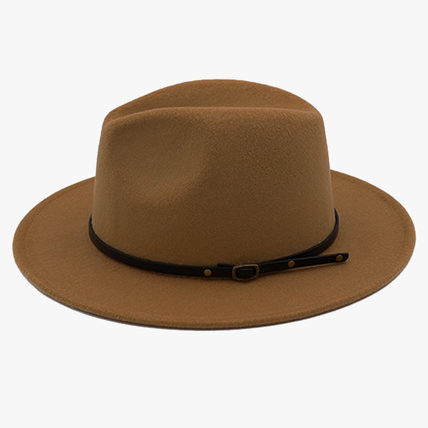 """EXPEDITION"" - FELTED WIDE BRIM FEDORA - DUSTY BROWN"