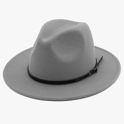 """EXPEDITION"" - FELTED WIDE BRIM FEDORA - STONE"