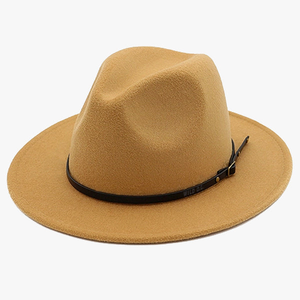 """EXPEDITION"" - FELTED WIDE BRIM FEDORA - TAN"