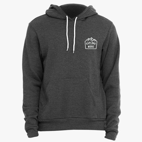 """EXPLORE MORE"" CREST - SPONGE FLEECE HOODY"