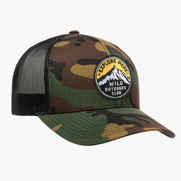 EXPLORE MORE - SNAPBACK TRUCKER HAT - CAMO