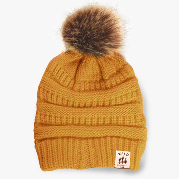 WILD - FAUX FUR POM TOQUE - SUNRISE