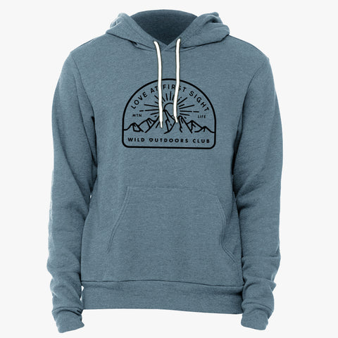 """LOVE AT FIRST SIGHT"" SPONGE FLEECE HOODY - SLATE HEATHER"