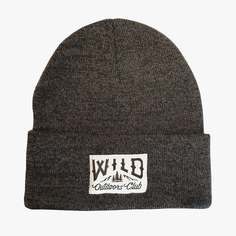 "WILD - ""WINTER KNIT"" TOQUE /  CHARCOAL MELANGE"