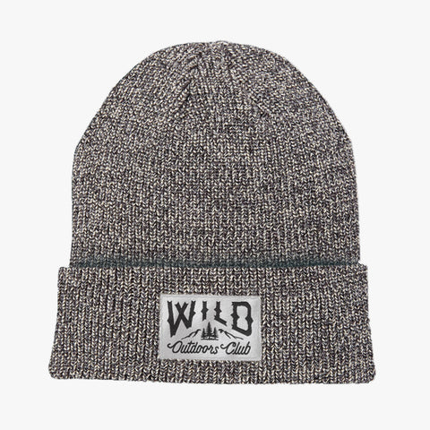 "WILD - ""WINTER KNIT"" TOQUE /  SALT & PEPPER"
