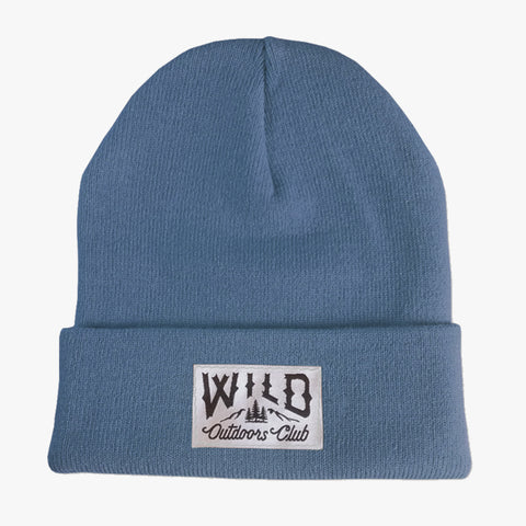"WILD - ""WINTER KNIT"" TOQUE / STEEL BLUE"