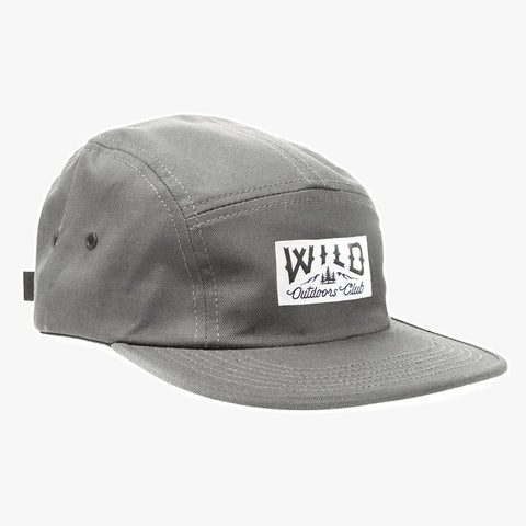 "WILD ""CLASSIC"" FIVE-PANEL HAT - GREY"