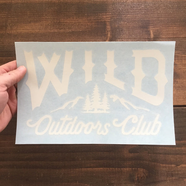 """WILD LOGO"" VINYL DYE-CUT STICKERS"