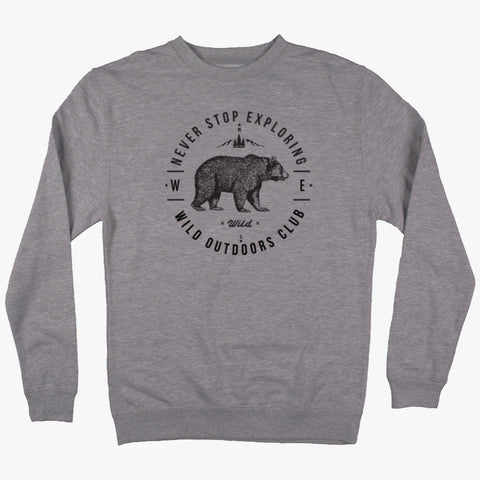 """NEVER STOP EXPLORING"" CREW NECK SWEATSHIRT"