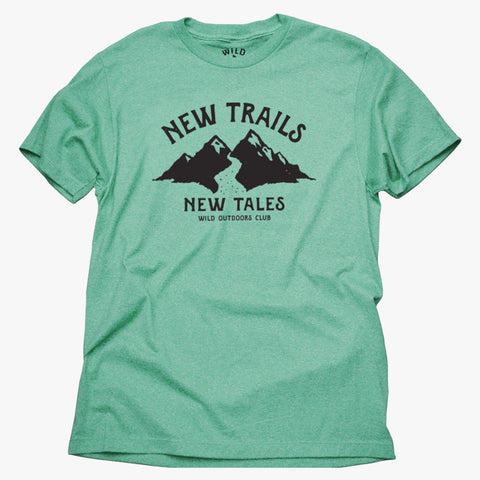 """NEW TRAILS"" MENS TEE - KELLY HEATHER"