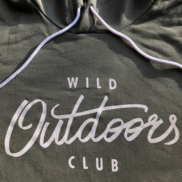 """OUTDOORS"" SPONGE FLEECE HOODY"