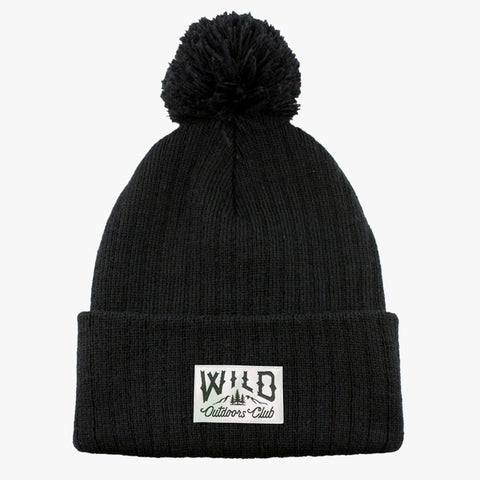 WILD - KNIT POM TOQUE - BLACK