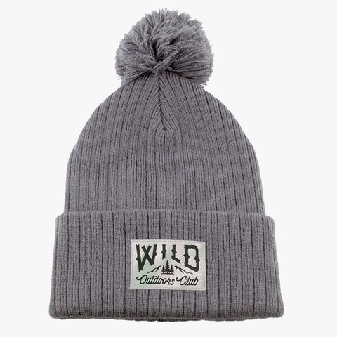 WILD - KNIT POM TOQUE - GRANITE